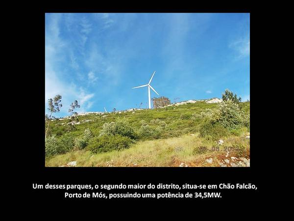 A energia eólica no distrito de Leiria